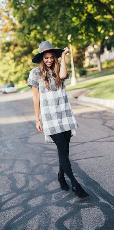 Alice Plaid Tunic $20.99