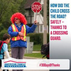 Thanks to them we worry less when our children walk to school!    Thank yours today for helping your kids get to school safely!    https://www.facebook.com/amfam?fref=ts