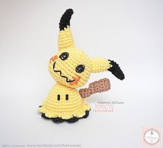 Pattern Free Mimikyu Sun & Pokémon Moon. Come to know us for our facebook  and website. Patrón gratis Mimikyu Pokémon Sol y Luna.   Pasa a conocernos por nuestro facebook y sitio web. www.tarturumies.com https://www.facebook.com/Tarturumies
