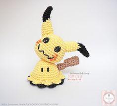 Pattern Free Mimikyu Sun & Pokémon Moon. Come to know us for our facebook  and website. Patrón gratis Mimikyu Pokémon Sol y Luna.   Pasa a conocernos por nuestro facebook y sitio web. www.tarturumies.com https://www.facebook.com/Tarturumies