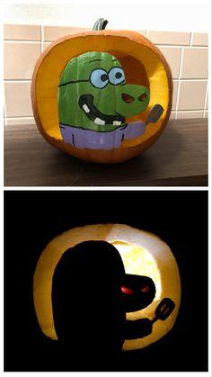 Cute Pumpkin Carving, Halloween Pumpkin Carving Stencils, Halloween Pumpkin Designs, Diy Halloween Decorations, Halloween Pumpkins, Fall Halloween, Halloween Crafts, Holiday Crafts, Holiday Fun