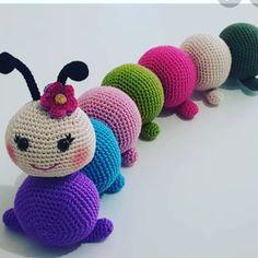 Crochet Baby Toys, Crochet Amigurumi Free Patterns, Crochet Animal Patterns, Stuffed Animal Patterns, Crochet Animals, Baby Knitting, Free Crochet, Caterpillar, Creations