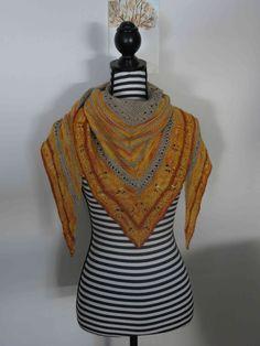 Test knit châle Linda par Julie
