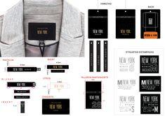 BRAND on Behance Web Design, Graphic Design Tips, Label Design, Skinny Pantalon, Price Tag Design, Fashion Identity, Shirt Packaging, Brand Guide, Fabric Labels
