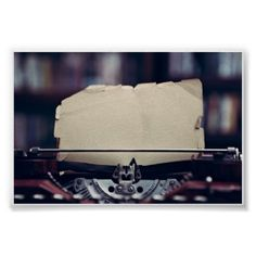 Vintage Typewriter Poster - retro posters classy cool vintage