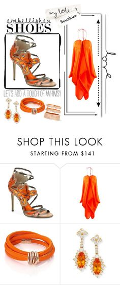 """""""Orange embellished"""" by jayme-becker ❤ liked on Polyvore featuring Jimmy Choo, de Grisogono, Lenox and Repossi"""