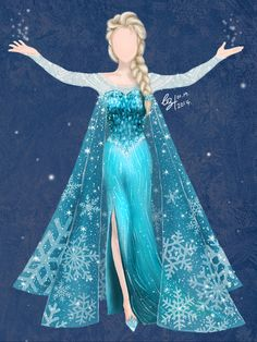 elsa dresses | Elsa's Dress - Disney's FROZEN by gabriellayoo