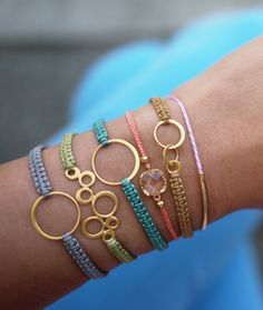 So cute! Website has a ton of great ideas for simple bracelets.