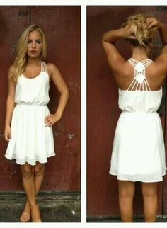 66ae0b7935ac Elegant Clothes ღ on. Cute Summer DressesCute DressesWhite Dress ...