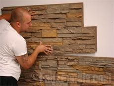 installing faux brick stone and wood paneling siding and columns