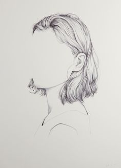 Henrietta Harris is an artist and illustrator from New Zealand who has created a series of seemingly unfinished portraits. Each drawing is a portrait with the subjects face missing — instead, the crisp black and white images are focused on fine lines and clean shapes. The hair on the subjects is incredibly detailed but the facial area of the image is completely blank. For more of her work, check out Harris'website.