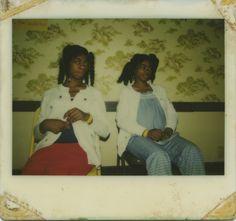 ladies with wallpaper #vintage #polaroid. http://digitalfoundness.tumblr.com/post/93396803710