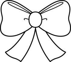 christmas bow coloring pages | Cute Bow Coloring Page