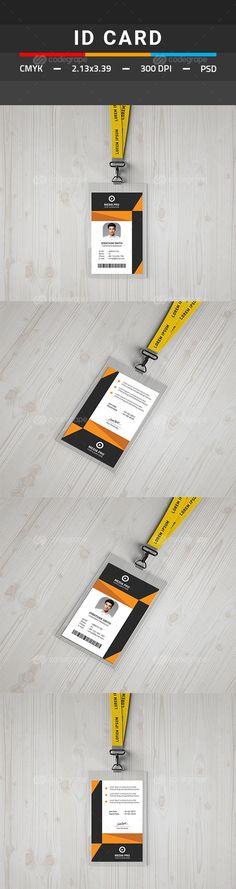 ID Card - Miscellaneous Print Templates Stencil Templates, Print Templates, Design Templates, Id Card Template, Card Templates, Id Design, Flyer Design, Graphic Design, Identity Card Design