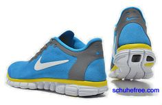 best service 2f702 04035 Damen Nike Free 3.0 V2 Anti -Pelz-Schuhe Royal Blue Yellow