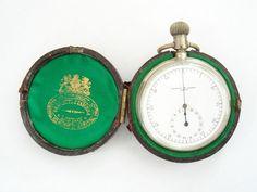 1900 RARE Negretti Zambra Silver Cased Pocket Watch Stopwatch | eBay
