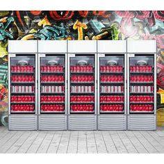 12.5 cu. ft Single Door Commercial Refrigerator Beverage Cooler in Gray Glass Door Refrigerator, Beverage Refrigerator, Bottom Freezer Refrigerator, Side By Side Refrigerator, Compact Refrigerator, Mini Fridge, Cafe 24, Beverage Center, Solid Doors