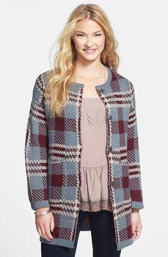 artee couture Plaid Sweater Coat (Juniors) on shopstyle.com