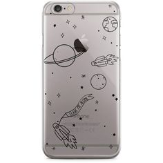 iPhone Case Space ($29) ❤ liked on Polyvore featuring accessories, tech accessories, iphone cover case, iphone cases, galaxy iphone case, transparent iphone case and iphone sleeve case