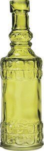 Small Chartreuse Green Vintage Glass Bottle (cylinder design) by Luna Bazaar. $2.95. Only 6.5 inches tall. Painted glass style reminiscent of antique medicine bottles. Perfect for cut flowers. Mix and match with our many other vintage styles. Not for food use.
