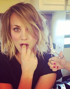 Kaley Cuoco Got Scissor-Happy and Chopped Off Her Hair
