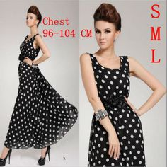 fashion summer dresses for women over 50 | 2013 spring summer new fashion korean stylish black long bohemian silk ...