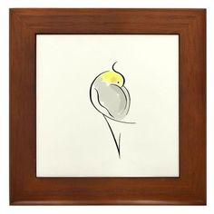 "Cockatiel Pets Framed Tile by CafePress by CafePress. $15.00. Rounded edges. 100% satisfaction guarantee return policy. Two holes for wall mounting. Frame measures 6"" X 6"" x 0.5"" with 4.25"" X 4.25"" tile. Quality construction frame constructed of stained Cherrywood. This simple Cockatiel line drawing is one of my favorites. It's minimal, but beautiful."