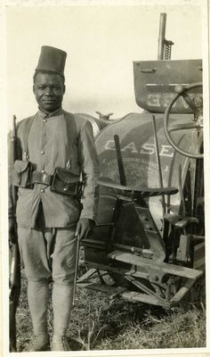 Senegalese Soldier on Serbian Front by Unknown Artist - WWI