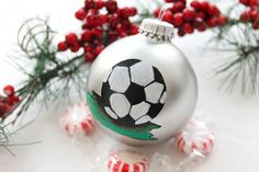 Soccer Ball Christmas Ornament by BabyGeneration on Etsy, $10.00