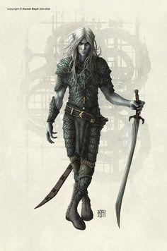 Dark Male Elf | 140 Amazing Illustrations by Kerem Beyit | TutorArt | Graphic Design Inspiration, Busniess Cards, Photo, Case Studies