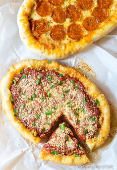 Slow Cooker Deep Dish Pizza. That's right, Chicago Style Pizza in the crockpot! So easy to make, and so delicious, you won't believe it.