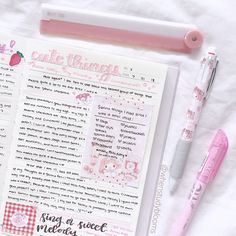 🌸 The new theme for this month is My Melody (with pinks, blues, and yellows). 💖 This is a peek of a journal spread I made~ Do you have a favorite character? Bullet Journal Notes, Bullet Journal Aesthetic, Bullet Journal Writing, Bullet Journal Ideas Pages, Bullet Journal Inspiration, Journal Pages, Cute Journals, Cute Notes, Scrapbook Journal
