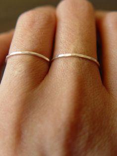 Silver double Ring  friedasophie.etsy.com