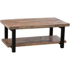 """Loon Peak Somers 42"""" Wood/Metal Coffee Table"""