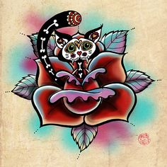 Sugar Skull Zombie Cat! Love this!