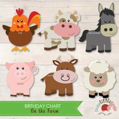 On the Farm Birthday Chart from Busy Little Bugs for Child Educators and Teachers