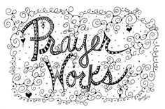6 PRAYER WORKS doodle Blank Note Card by IsaBillsDaughter on Etsy