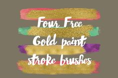 DLOLLEYS HELP: Four Free Gold Paint Stroke Brushes
