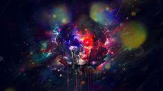 skulls psychedelic digital art 2560x1440 wallpaper Art HD Wallpaper