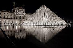 Louvre Pyramid Photo Paris at night by PatrickRabbatPhotos on Etsy