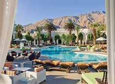 A Vibrant Fusion Of Chic Style & Unique Experience. This Palm Springs Luxury Resort is an Escape Designed For Adventure & Relaxation. Let Us Satisfy Your Most Simple Requests at Riviera Palm Springs. Palm Springs Resorts, Springs Resort And Spa, Hotels And Resorts, Hotel Et Spa, Hotel Pool, Palms Hotel, Hotel Bed, Ace Hotel, Palm Springs California