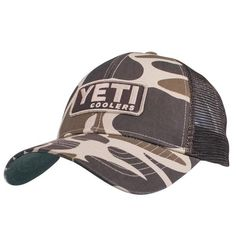 6fa98945427 Yeti Custom Camo Trucker Hat - One size fits all - Brown  Yeti Custom Camo  Trucker Hat features a ventilated mesh back and an adjustable snap closure.