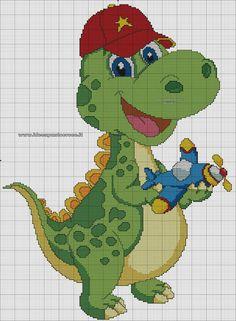 Kawaii Cross Stitch, Cute Cross Stitch, Cross Stitch Animals, Cross Stitch Charts, Cross Stitch Designs, Cross Stitch Patterns, Cross Stitching, Cross Stitch Embroidery, Dragon Cross Stitch