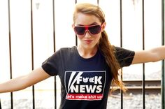 Organic Cotton T-shirt: F**k News