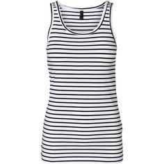 Vero Moda Sailor Marina Tank Top Color (93 NOK) ❤ liked on Polyvore featuring tops, tank tops, stretchy tops, striped top, stripe tank, stripe tank top and vero moda tops