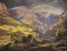 Johan Christian Dahl(1788ー1857)「View from Stalheim」(1842)