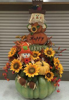 Scarecrow Pumpkin 2016 by Andrea