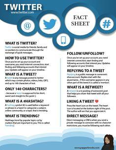 Twitter for Beginners (Information Sheet)  #Twitter #Twitter101 #Socialmedia #InformationSheet #freeprintable #freedownload