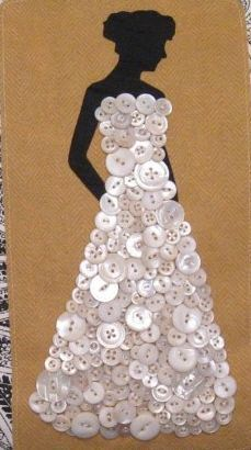 Button gown. Would be cute framed in a girls bedroom: