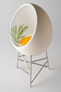 Le Nid ramekin for cooking and serving eggs by Christian Ghon for Alessi.